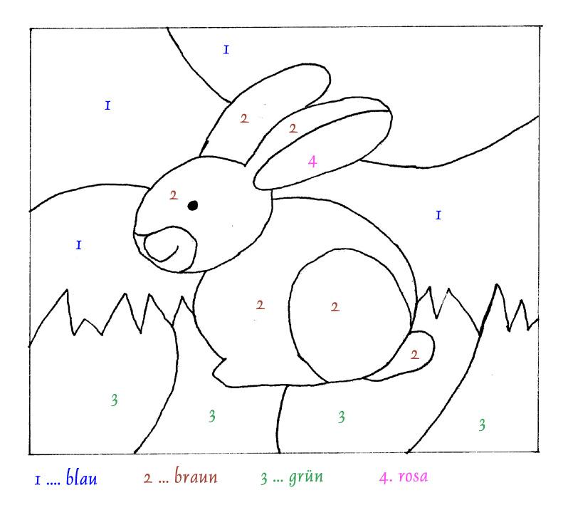 Malvorlagen: Malen nach Zahlen: Hase, Mamas and More - von Mamas für ...
